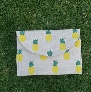 Pineapple embroided clutch
